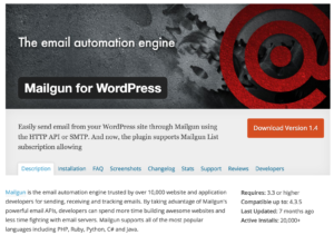 Mailgun for WordPress