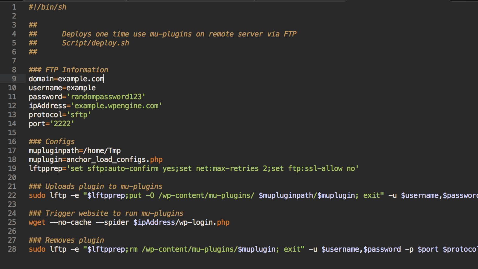 Injecting A Custom Mu Plugin For Ftp Deployments On Wp Engine