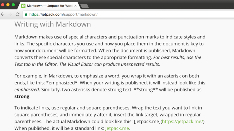 Using Jetpack's markdown on custom fields