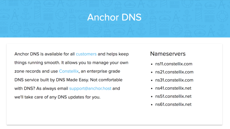 Introducing Anchor DNS