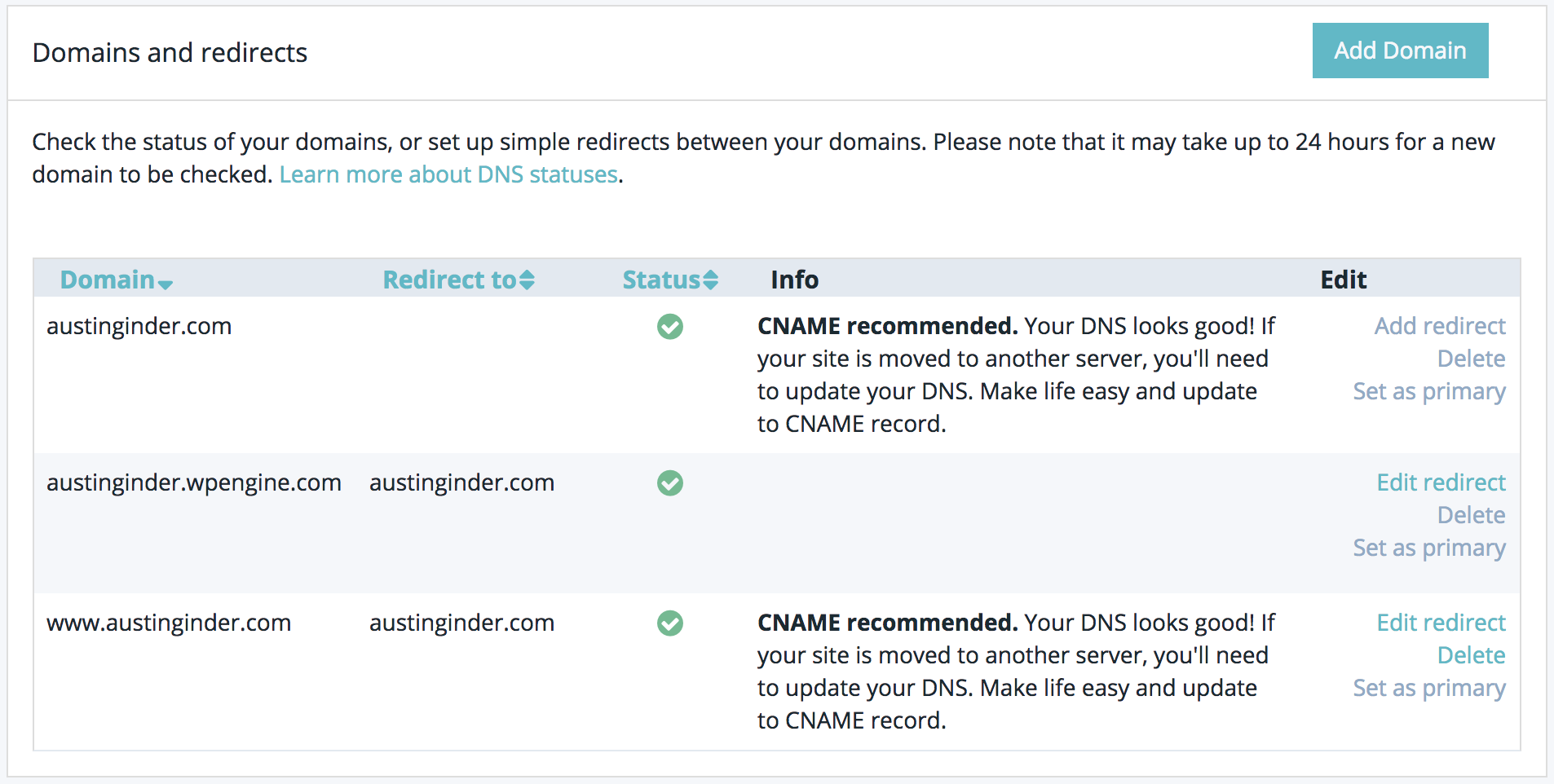 Avoiding HTTP double redirects with WP Engine