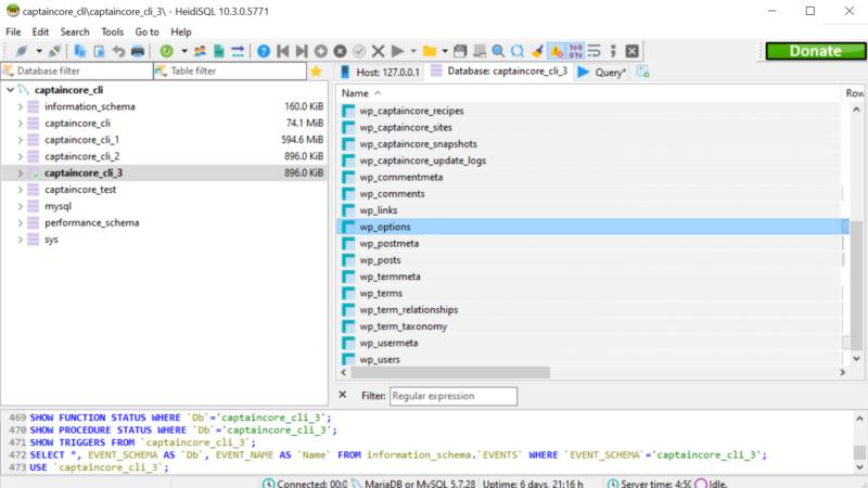Dynamically Load WordPress Database